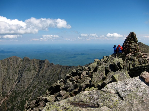The view from Katahdin on a day hike in 2010