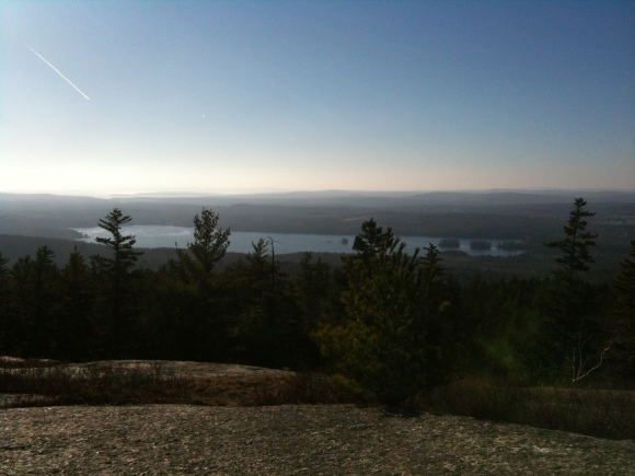 Thanksgiving Day hike up Great Pond Mountain in East Orland, ME. Only 10 minutes from home.