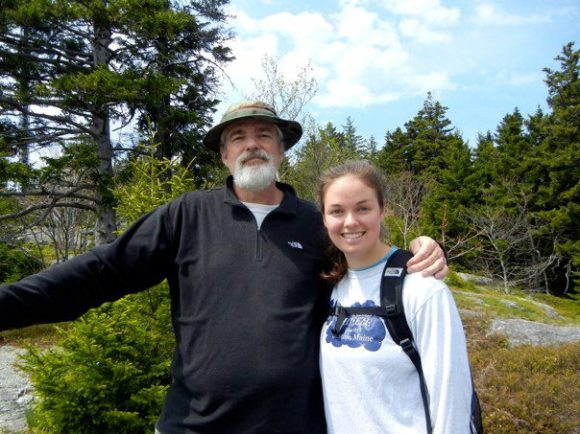 My dad and I hiking Blue Hill Mountain last year.