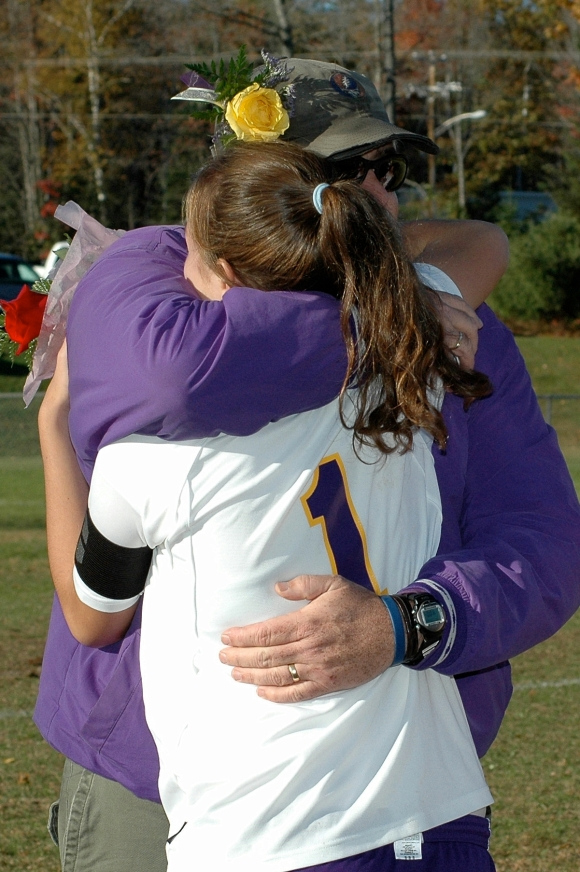 My dad (and coach) before my Senior soccer game in 2007.