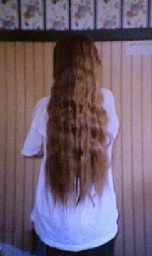 When my hair was super long back in the day.