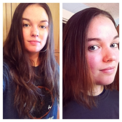 "I'm not usually one to do ""selfies"" as they're so called, but for the purpose of my blog, it had to be done. I miss my long hair :("