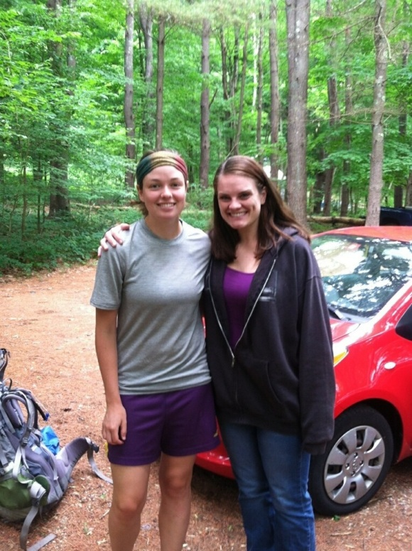 Kristin and I after her and Eric gave us a much-needed break off trail.