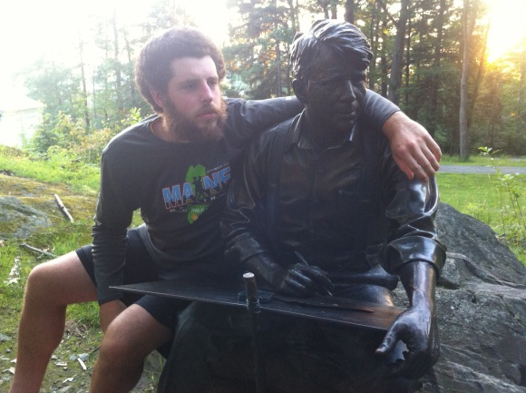 Miles to Go hanging with Robert Frost at Dartmouth in July.