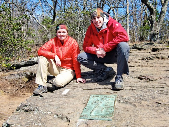The very first white blaze on Springer Mountain. The beginning of a journey.